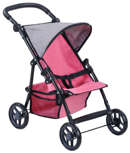 Puppenbuggy Liba jeans pink knorrtoys Puppenwagen