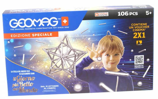 Geomag Classic Silber Set 106 teilig