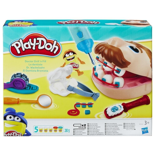 Play-Doh Kinderknete Set Dr. Wackelzahn